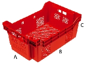 Stack & Nest Plastic crate Milleusi Plus.