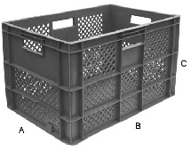 60 LTR STACKING CRATE VENTED