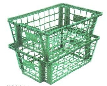 DELIVERY CRATE- IDEAL FOR SALAD DISTRIBUTION -SHELF STORAGE
